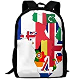 ZQBAAD Flag Map Of Colonial Africa 1939 Luxury Print Men And Women's Travel Knapsack
