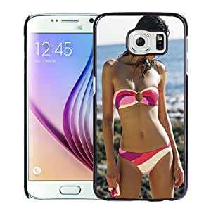 New Personalized Custom Designed For Samsung Galaxy S6 Phone Case For Black Hair Beauty At The Beach Phone Case Cover