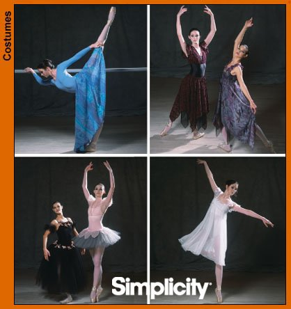 Dance Costume Patterns (SIMPLICITY PATTERN 5138 Misses Ballet Lyrical Costumes Size HH 6, 8, 10, 12, Eur 32-38, Fr 34-40)