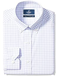 Men's Tailored Fit Check Non-Iron Dress Shirt