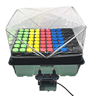 Cloning Machine, Aeroponic Cloner System 70 Site HortiPots for Indoor Gardening Plant Cutting Germination Kit Using 1.625 inch Neoprene Clone Inserts