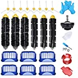 Joybros 23-Pack Replacement Parts Compatible for iRobot Roomba Accessories 600 Series 690 680 660 651 650& 595 585 564 552 Filter Brush Roller Front Caster Wheel Replenishment Kit