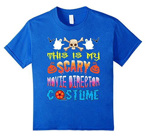 Kids This Is My Scary Movie Director Costume Halloween T-Shirt 12 Royal (Is Halloween A Scary Movie)