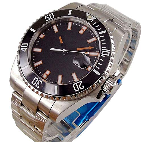 Sapphire Glass 43mm Blue Sterile Dial Ceramic Bezel Solid Stainless Steel Case Luminous Japan Miyota 8215 Automatic Movement Men's Watch (Model-2) (Stainless Sterile Steel)