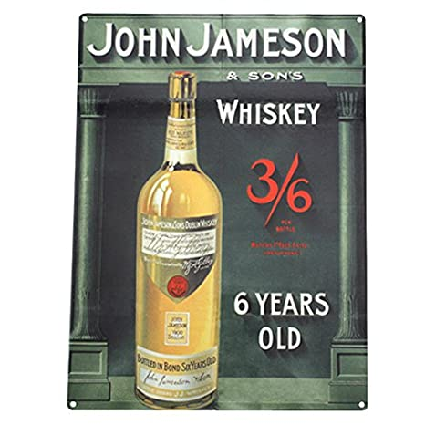 Amazon.com: Jameson Whiskey Barra de metal Sign: Home & Kitchen