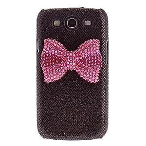 GDW Bling brillante del estampado leopardo duro Volver Funda para el Samsung Galaxy S3 I9300 , Pink