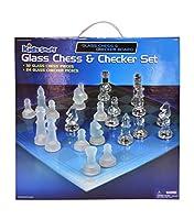 Kids Stuff Glass Chess & Checker Set