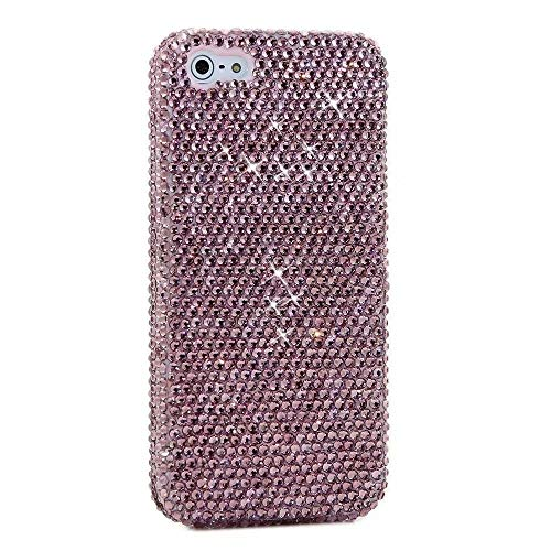 Galaxy S8 Diamond Case,100% Handmade Austrian Rhinestones Shining Sparking Luxury Bling Glitter Jewelry Diamond Soft TPU Protective Case for Samsung Galaxy S8-Pink