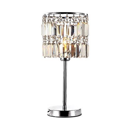 OOFWY Minimalista Novedad romántica lámpara de mesa de metal con ...