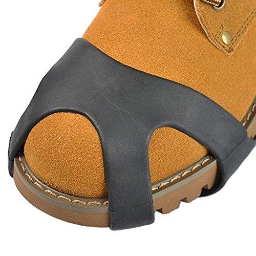 Crampon Chaussure Anti Glisse Anti Verglas Caoutchouc Semelle Antidérapant Unisexe Crampon à Glace S/M/L/X-L EU-SPA-062 e0o3EY