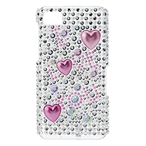Rhinestones Style Pink Letters Pattern Hard Case for Blackberry Z10