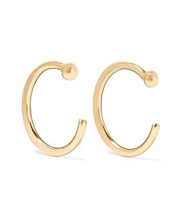 9280514e8 Amazon.com: Melissa Joy Manning 14k Gold Hug Hoops: Jewelry