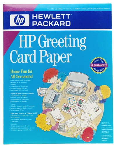 photo about Hewlett Packard Printable Cards known as HP C1812A Quarter-Fold Greeting Playing cards with Envelopes (20-Rely)