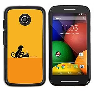LECELL--Funda protectora / Cubierta / Piel For Motorola Moto E -- Escritor Monkey Business --