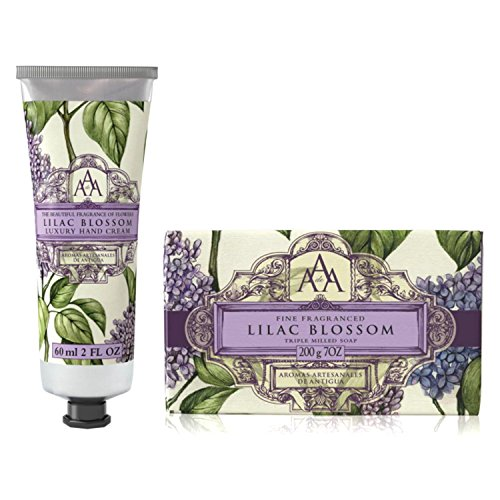 Cream Milled Soap - Somerset Toiletry Co. AAA Floral Hand Cream and Triple Milled Soap Set - Lilac Blossom
