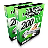 Office Products : 2 PACK - Thermal Laminating Pouches - (200 PACK - Get 2x More Sheets!) - Fits 8.5 x 11 Letter Size Paper - Universal Compatible with all Hot Laminator Machines - 3 Mil