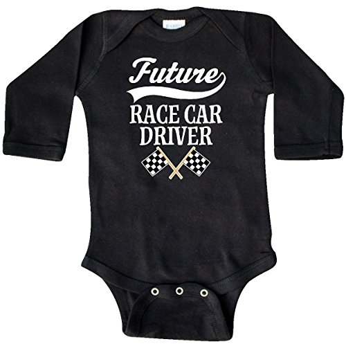 Race Car Driver Outfit (inktastic Future Race Car Driver Racing Long Sleeve Creeper 6 Months Black)