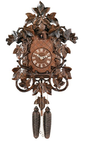River City Clocks Eight Day Cuckoo Clock with Hand, Carved Vines and Leaves by River City Clocks
