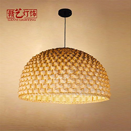 Cheap JhyQzyzqj Pendant Lights Chandeliers Ceiling Lights Creative modern bamboo arts single – head restaurant LED living room balcony floor decoration 450 X 300MM