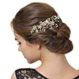 SWEETV Wedding Hair Comb Clip for Brides - Jewelry