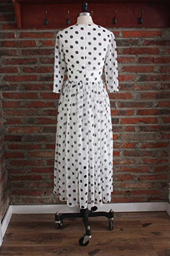 Sleeve Printed Gown Dresses Neck Ball Long Party White Dress Half v cotyledon qYT17