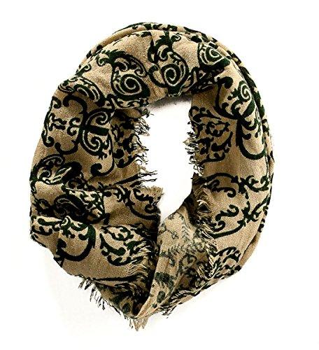 UPC 794815905543, Cejon Women's Scarf Infinity Loop Natural & Hunter Green