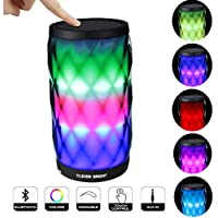 Bluetooth Speakers Wireless LED Touch Control Colorful Night Light Built-in Mic, AUX and Hands Free Speaker for Home and Party / Beach / Picnic / Outdoor Portable Bluetooth Speaker