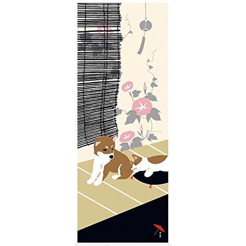 Hamamonyo Summer of Shiba Inu & Cats Chusen Tenugui Towel - Shiba Inu Cats