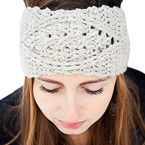 [2017 New Womens Winter Warm Hat Headband ONEMORES(TM) Skiing Cap Knitted Empty Skull Beanie Headband] (Ethnic Hats)