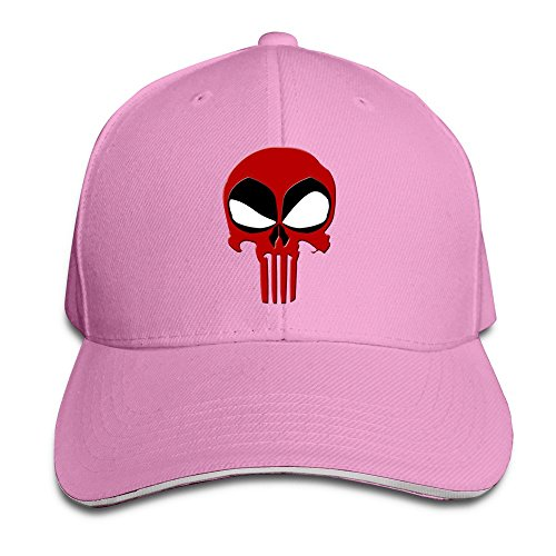 sunny-fish6hh-unisex-adjustable-deadpool-punisher-baseball-caps-hat-one-size-pink