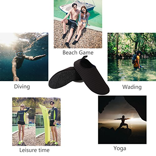 Socks Women Beach Pool Aqua Yoga Shoes Surf Exercise Swim Quick Barefoot Donppa Dry Men Black Water Skin zYxqZIE8w