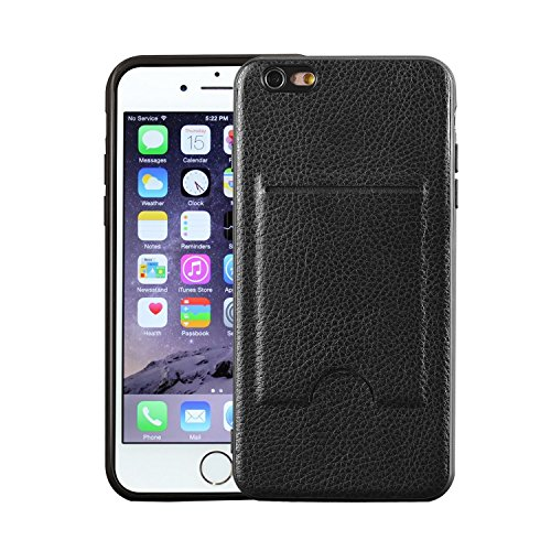 iPhone 6 Plus/6S Plus Wallet Case, Card Case, MagicSky Ultra Slim Premium PU Leather Wallet Case Shock-Absorbing Protective Bumper Cover With Card Holder for Apple iPhone 6 Plus/6S Plus - Black