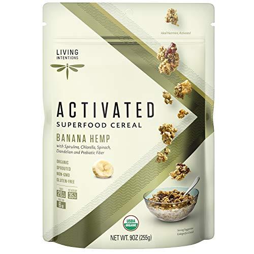 Living Intentions Organic Superfood Cereal - Banana Hemp - NonGMO - Gluten Free - Vegan - Paleo - Kosher - 9 Oz