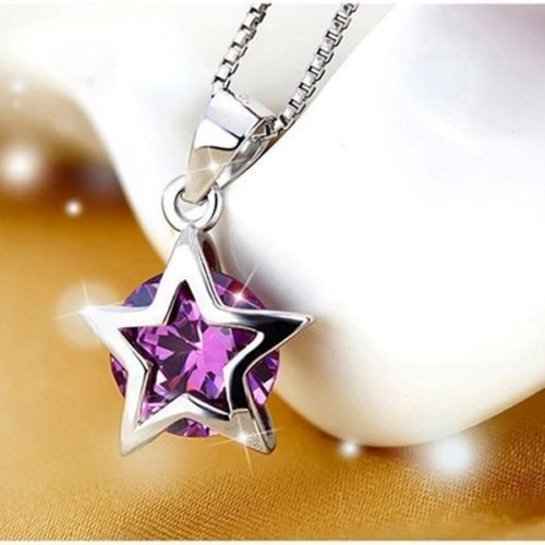 New fashion Women Silver Plated Zircon Star Crystal Pendant Necklace Chain Jewelry COOL ,obo - Sale Sunglasses Authentic Chanel