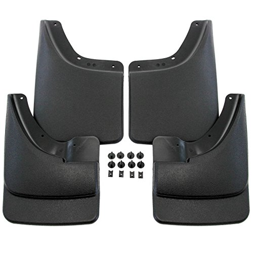 Splash Mud Guards 1500 (Premium Heavy Duty Molded Mud Flaps for 2002-2008 Dodge Ram 1500 & 2003-2009 Dodge Ram 2500/3500 Mud Flaps Guards Splash For Trucks WITHOUT Fender Flares Front & Rear 4pc Set)