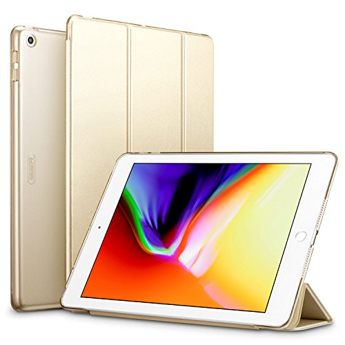 ESR-iPad-2017-iPad-97-inch-Case-Lightweight-Smart-Case-Trifold-Stand-with-Auto-SleepWake-Function-Microfiber-Lining-Hard-Back-Cover-for-the-Apple-iPad-97-inchChampagne-Gold
