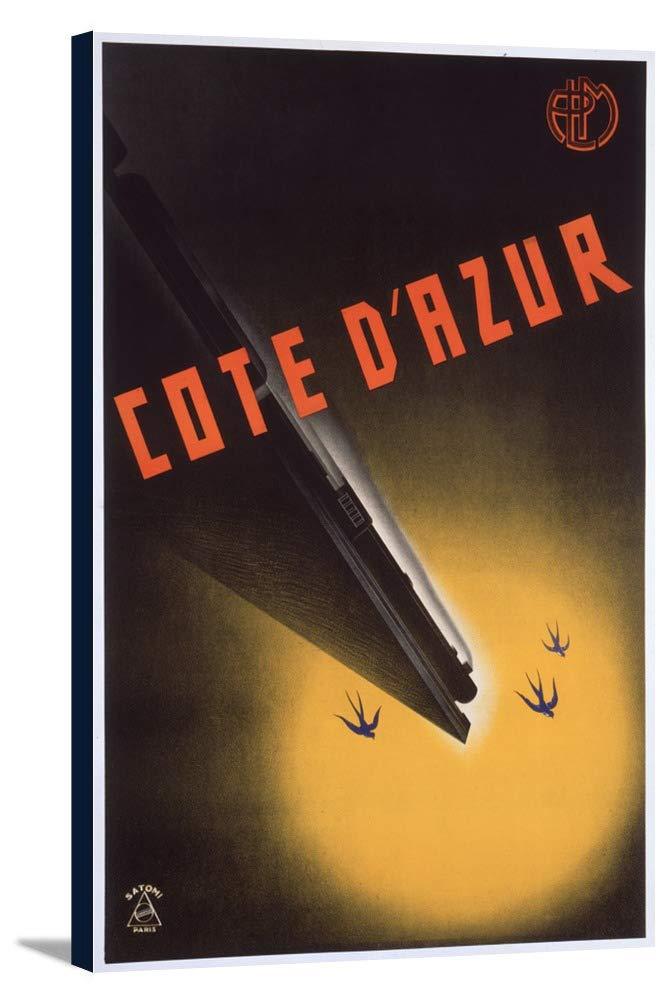 Cote D ' Azurヴィンテージポスター(アーティスト: Satomi )日本C。1934 11 3/8 x 18 Gallery Canvas LANT-3P-SC-74886-12x18 B01EBQJXA6  11 3/8 x 18 Gallery Canvas