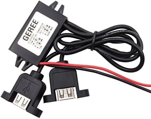 dc konverter modul 12v 5v 3a 15w usb - adapter