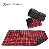 Premium Extra Large Picnic & Outdoor Blanket with Improved Backing, Carrying Buckle, Machine Washable (Red)
