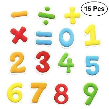 BESTONZON - 15 imanes de nevera educativos, con números ...