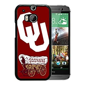WANY Beautiful Classic NCAA Big 12 Conference Big12 Football Oklahoma Sooners 7 Black HTC ONE M8 Case