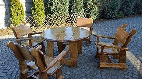 Tavoli Da Giardino In Legno Rustici.Luxus Pur Ug Mobili Da Giardino In Legno Massiccio Rustico Tavolo
