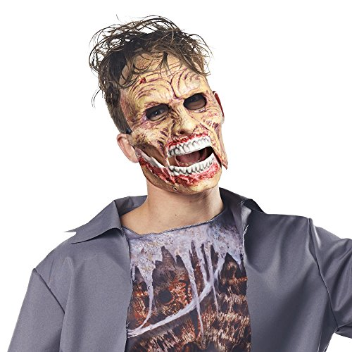 Halloween Mask. Best Costume, Dress, Outfit Supplies, Accessories For Scary, Cool, Creepy, Unusual, Spooky, Fun Party. For Children, Kids, Teens, Adults, Couples, Boys, Girls (Movable Masks)