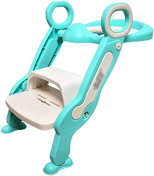 PENGJIE Taburete Kids Potty Toilet Training Seat Escalera Ajustable con escalones para taburetes Seguridad Plegable Antideslizante Escabel: Amazon.es: Hogar