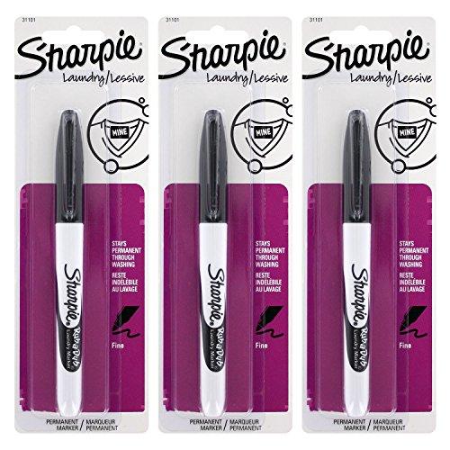 Sharpie Rub-A-Dub Laundry Marker, Pack of 3 (Laundry Marker Pens)