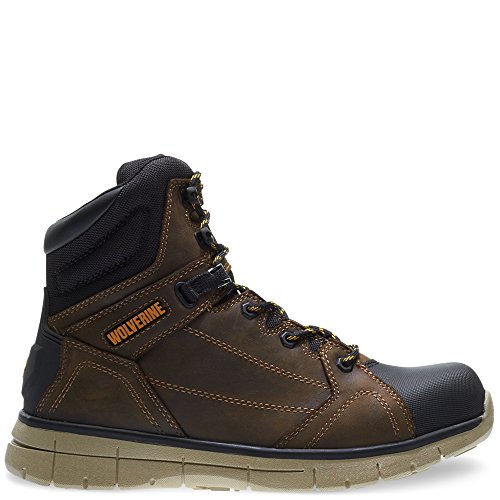 Wolverine Wedge Boot - Wolverine Men's Rigger WPF Soft-Toe Mid Wedge Construction Boot, Summer Brown, 8 M US