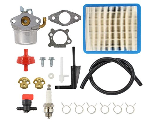 Carburetor Air Filter Spark Plug Fuel Hose Shut Off Valve Carb For Briggs & Stratton Craftsman Tiller Intek 190 6 HP 206 5.5hp Engine Motor 6.5 HP Intek Power Washer Go Kart Generator 791077 696981 by MOTOKU