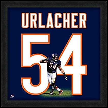 bc574aaeeb3 Amazon.com  Chicago Bears Brian Urlacher  54 Players Jersey UniFrame   Sports Collectibles