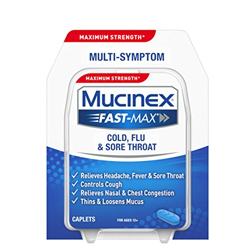 Mucinex Fast-Max Cold, Flu, & Sore Throat Caplets, 20ct ()