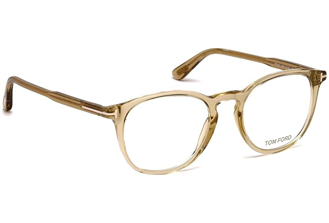 d153e7c81f Amazon.com  Tom Ford FT 5401 Transparent Light Brown 49 20 145 Unisex  Eyewear Frame  Watches